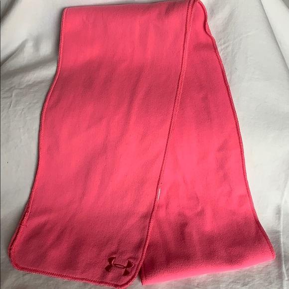 Under Armour Accessories - Under Armour Pink Fleece Scarf